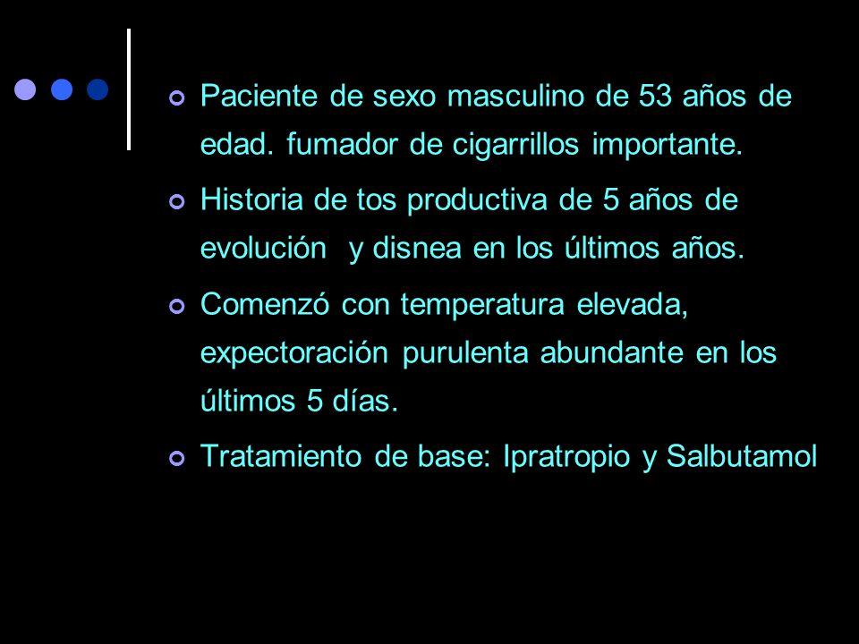 Tratamiento de base: Ipratropio y Salbutamol
