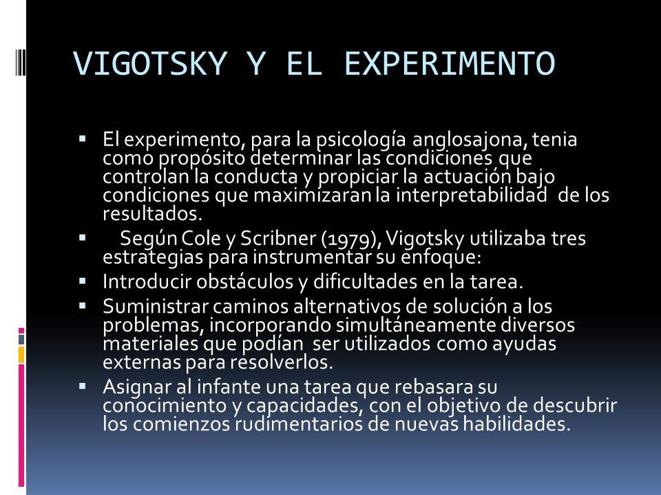 VIGOTSKY Y EL EXPERIMENTO