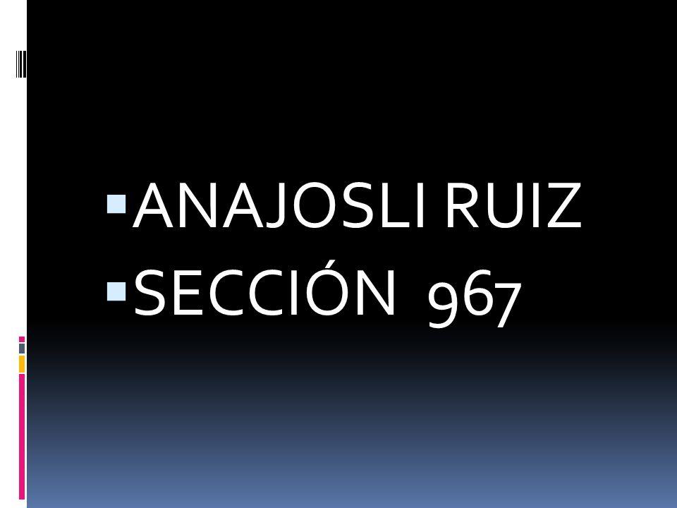 ANAJOSLI RUIZ SECCIÓN 967