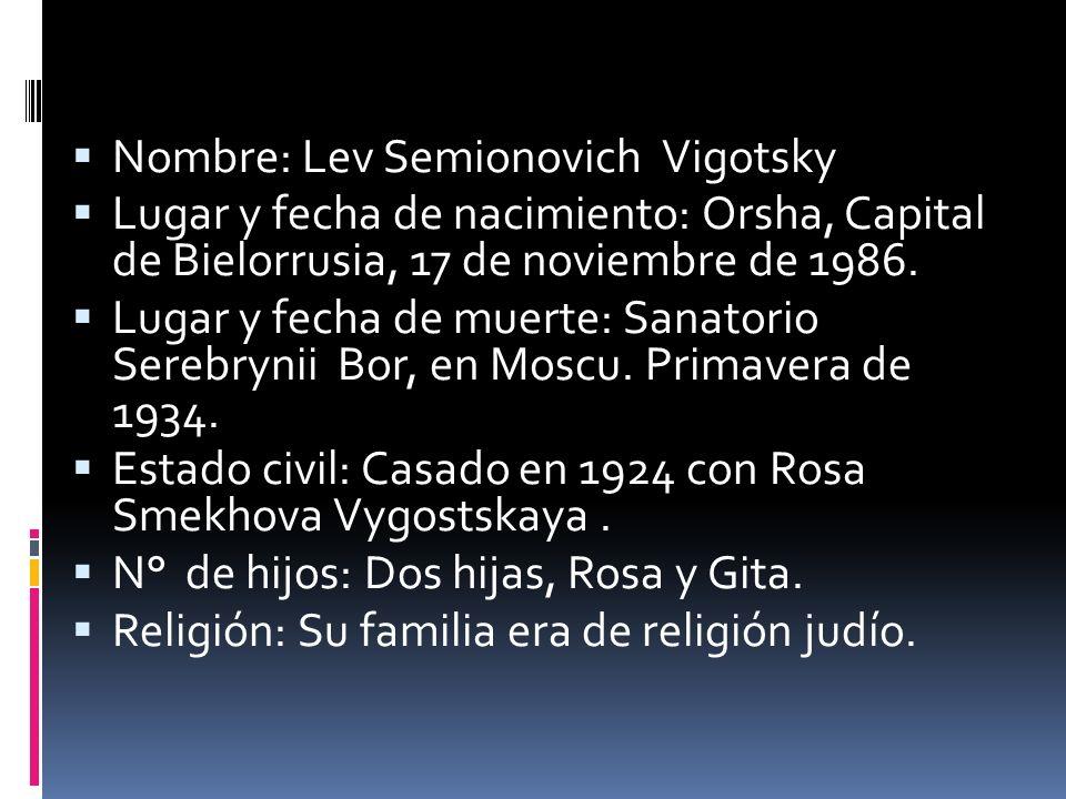 Nombre: Lev Semionovich Vigotsky