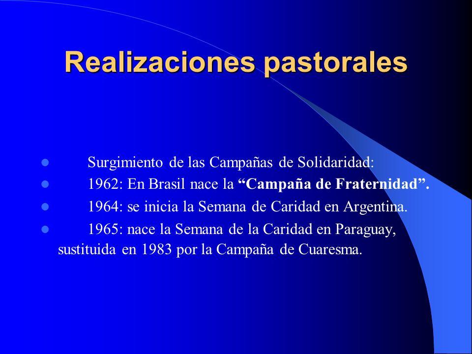 Realizaciones pastorales