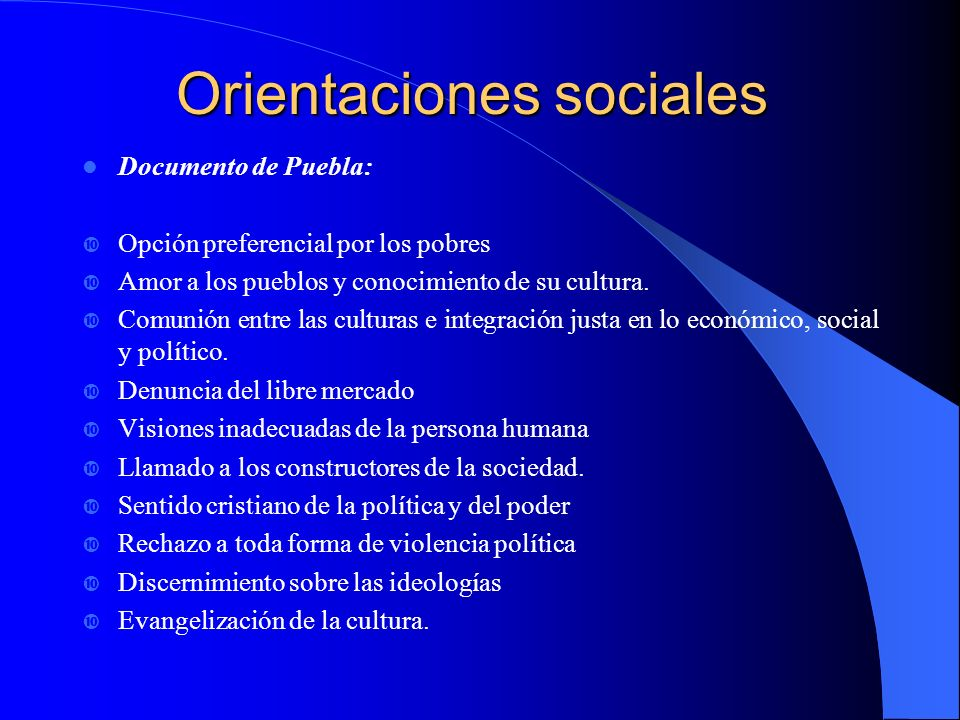 Orientaciones sociales