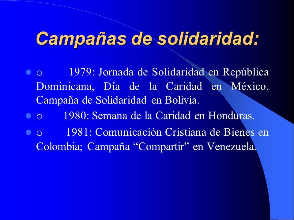 Campañas de solidaridad: