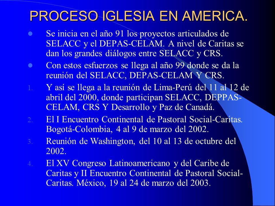 PROCESO IGLESIA EN AMERICA.