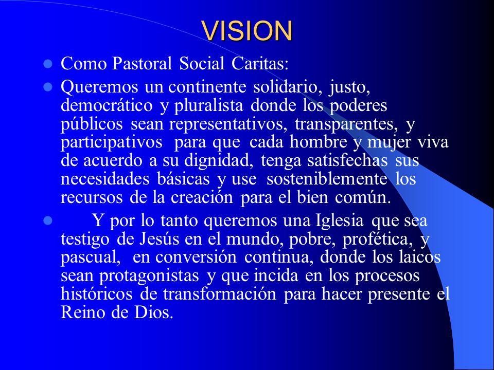VISION Como Pastoral Social Caritas: