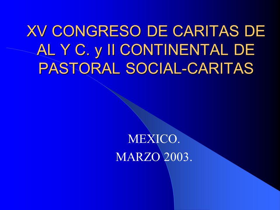 XV CONGRESO DE CARITAS DE AL Y C