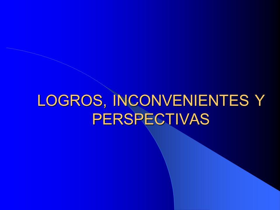 LOGROS, INCONVENIENTES Y PERSPECTIVAS