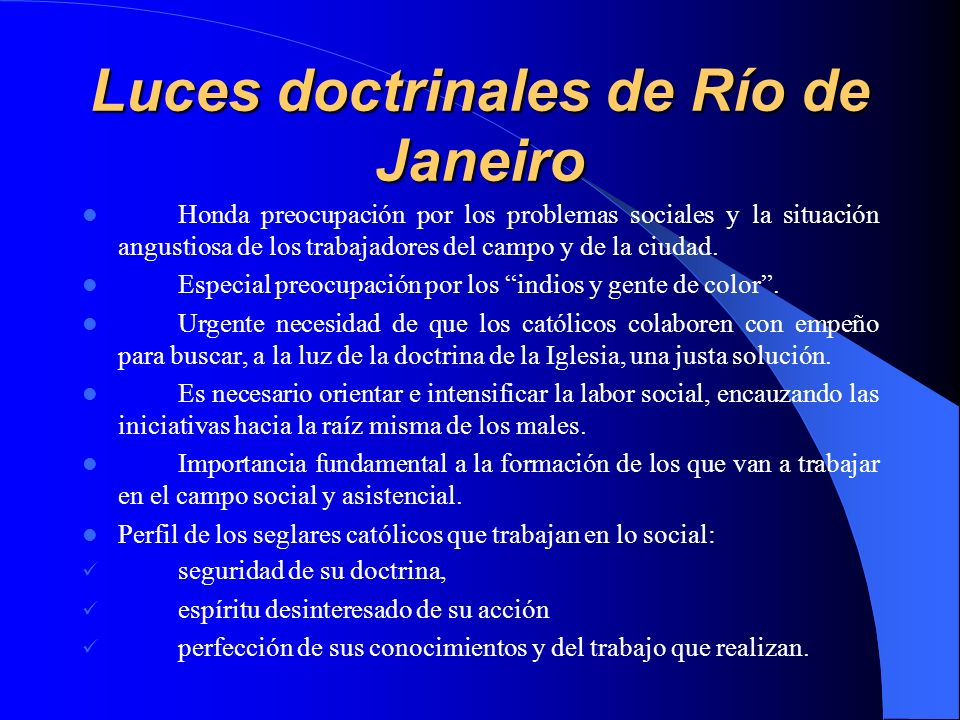 Luces doctrinales de Río de Janeiro