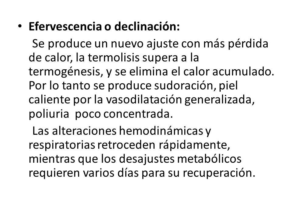 Efervescencia o declinación: