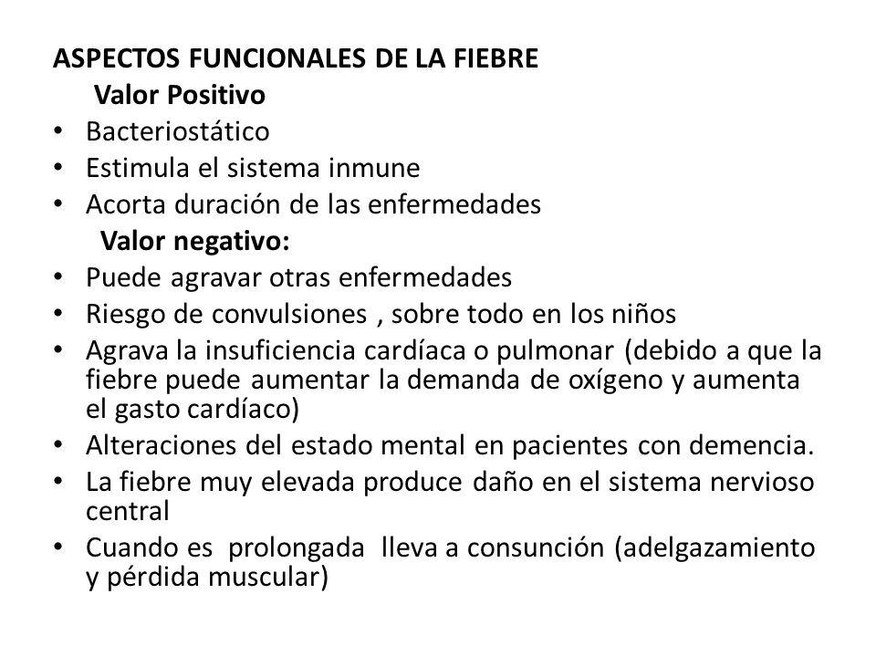 ASPECTOS FUNCIONALES DE LA FIEBRE
