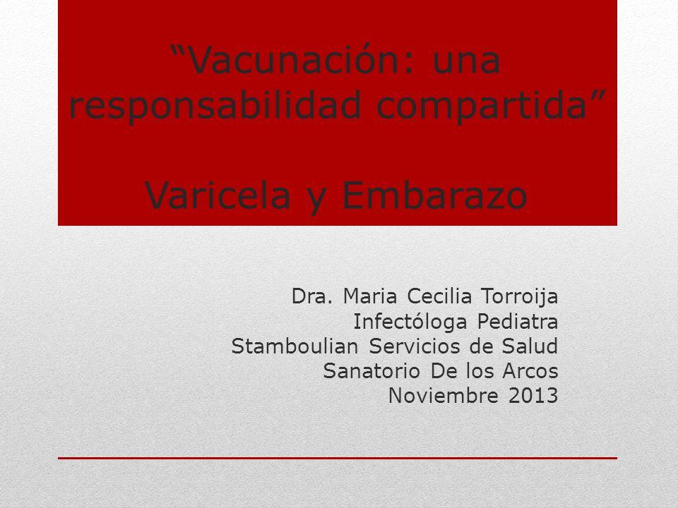 Vacunación: una responsabilidad compartida Varicela y Embarazo