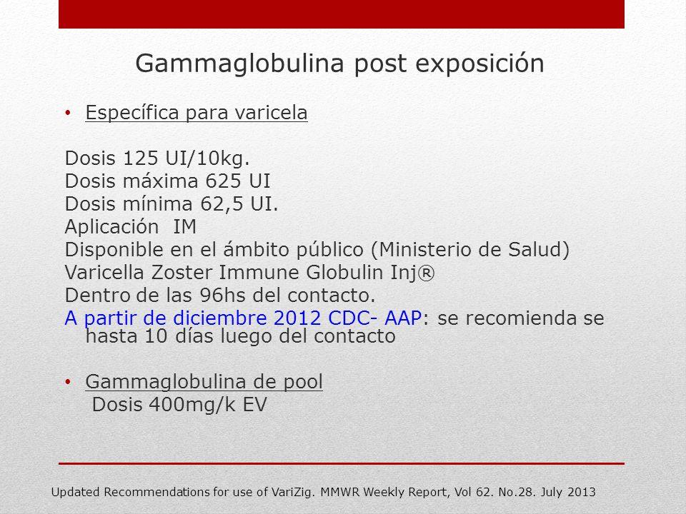 Gammaglobulina post exposición