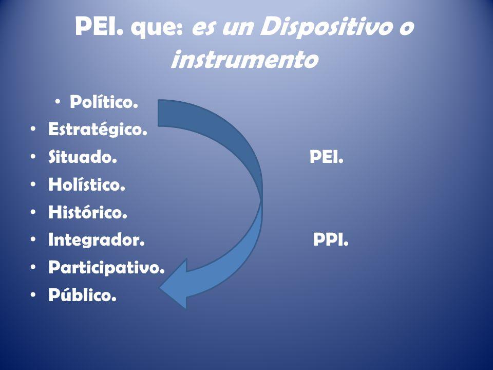 PEI. que: es un Dispositivo o instrumento