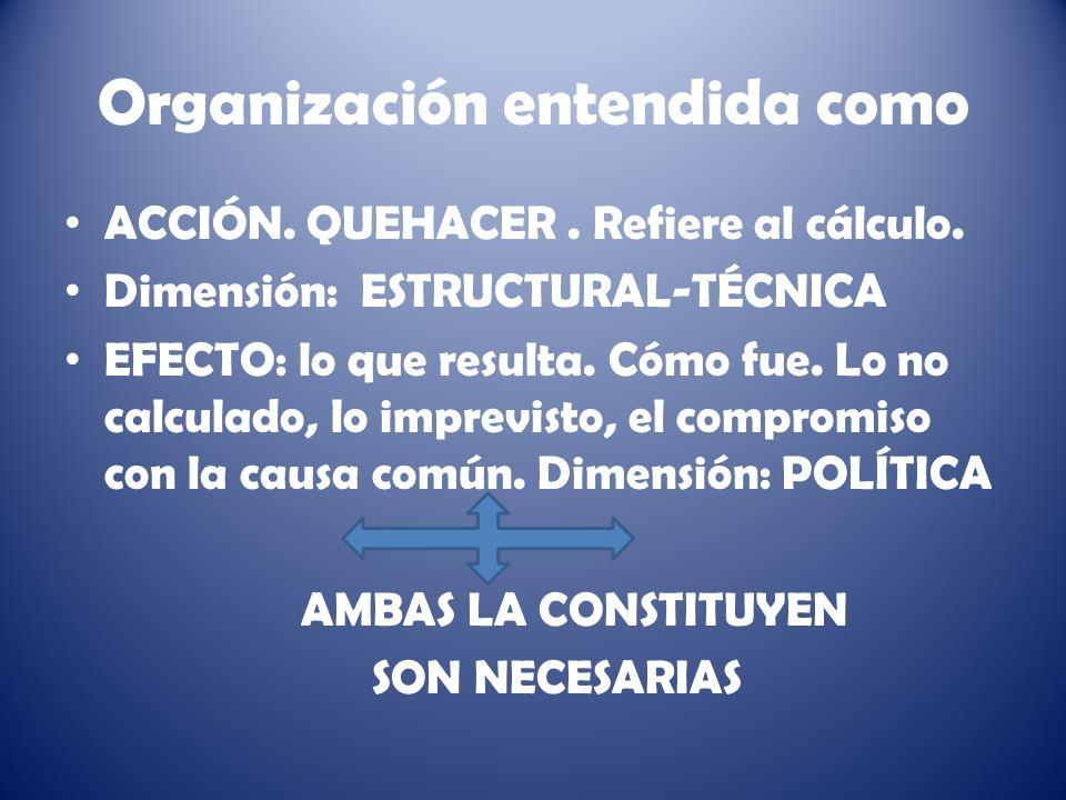 Organización entendida como