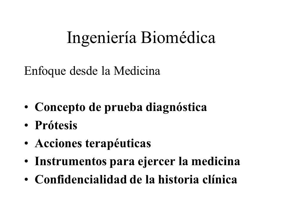 Ingeniería Biomédica Enfoque desde la Medicina