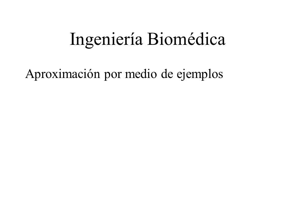Ingeniería Biomédica Aproximación por medio de ejemplos