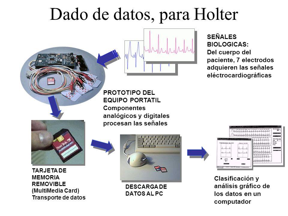 Dado de datos, para Holter