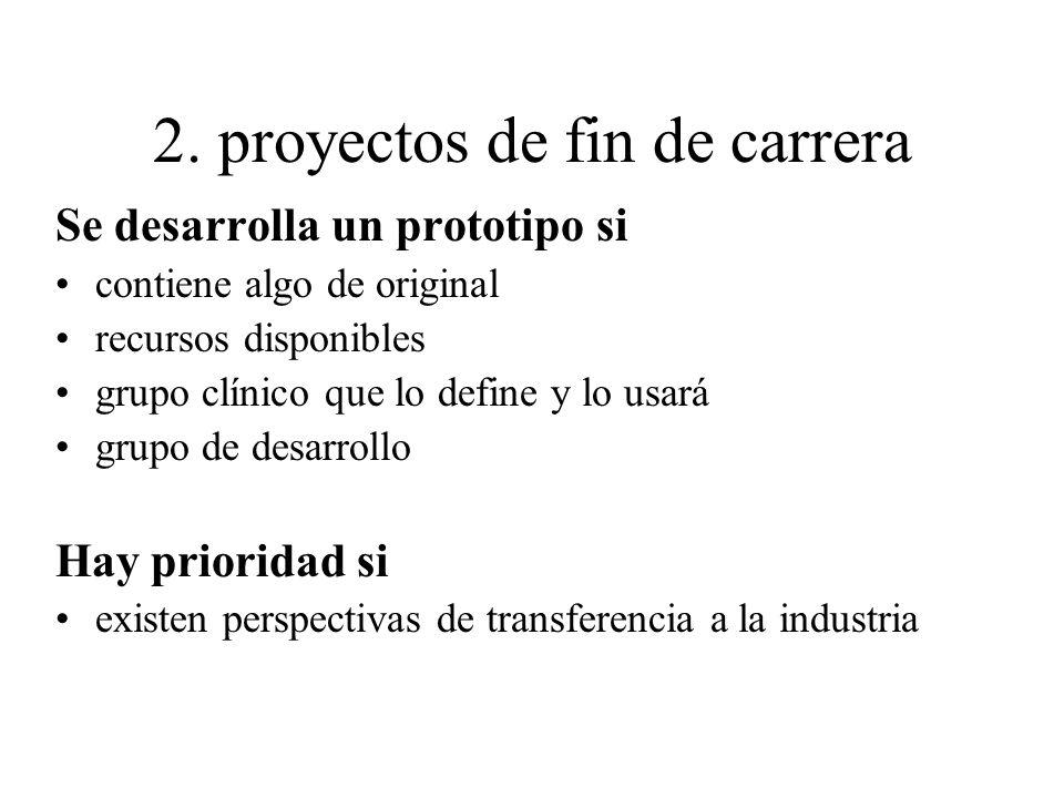 2. proyectos de fin de carrera
