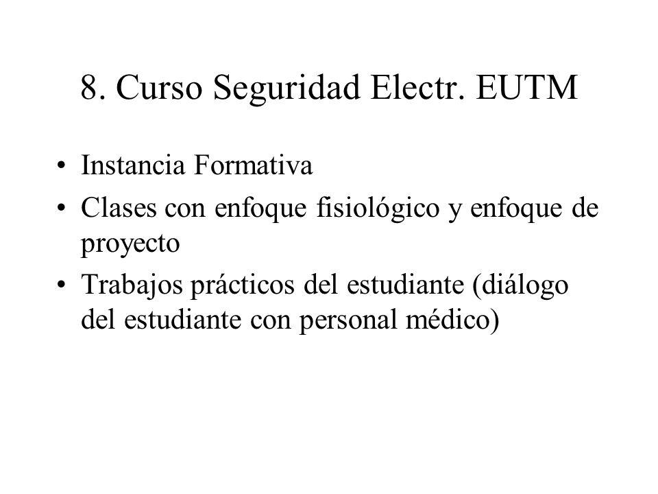 8. Curso Seguridad Electr. EUTM