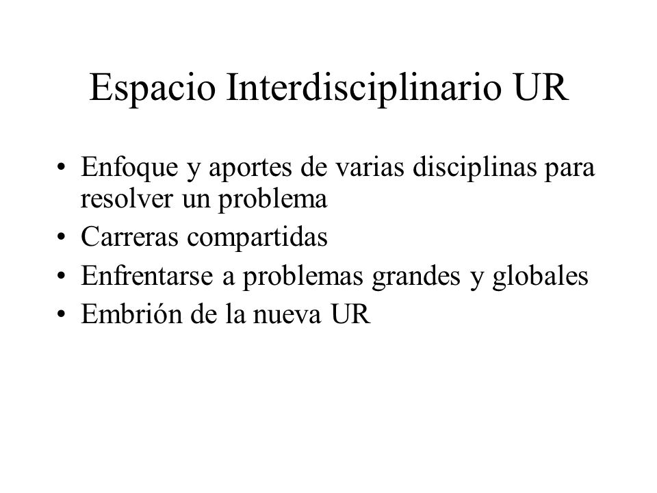 Espacio Interdisciplinario UR