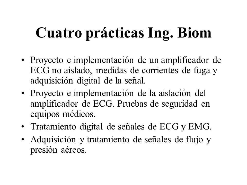 Cuatro prácticas Ing. Biom