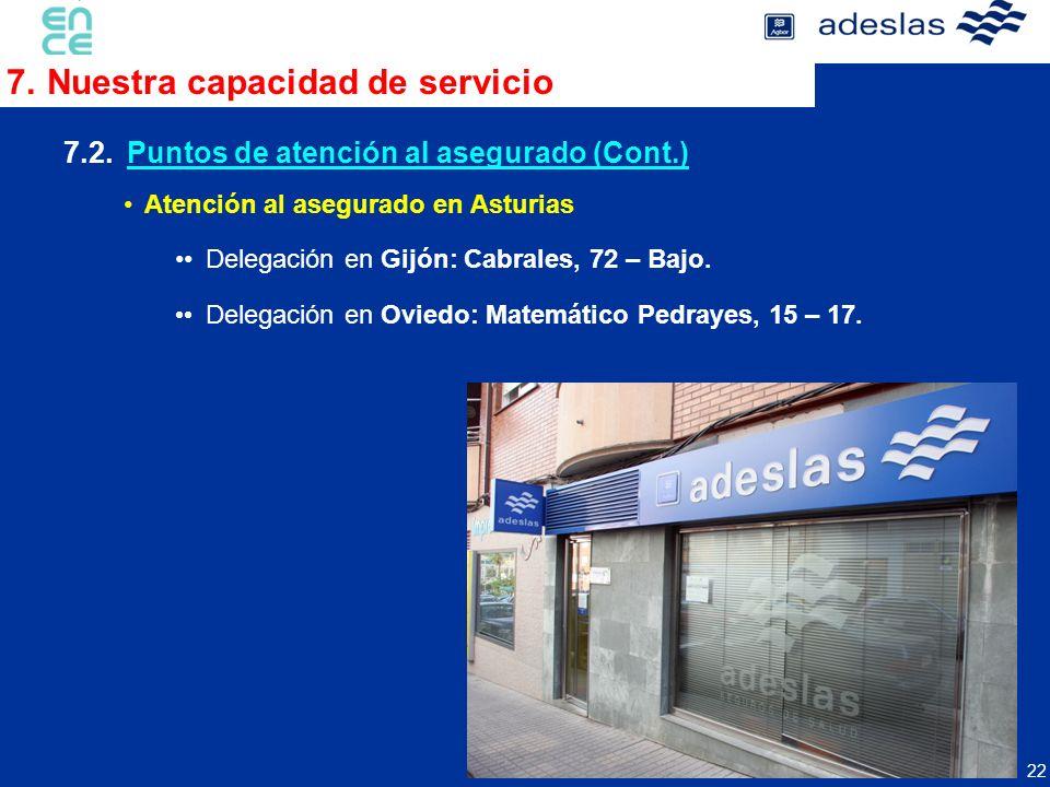 7. Nuestra capacidad de servicio