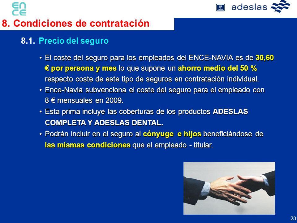 8. Condiciones de contratación