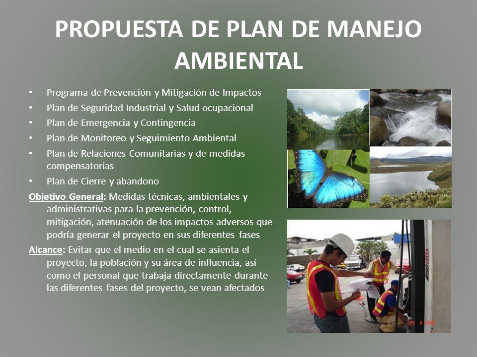 PROPUESTA DE PLAN DE MANEJO AMBIENTAL