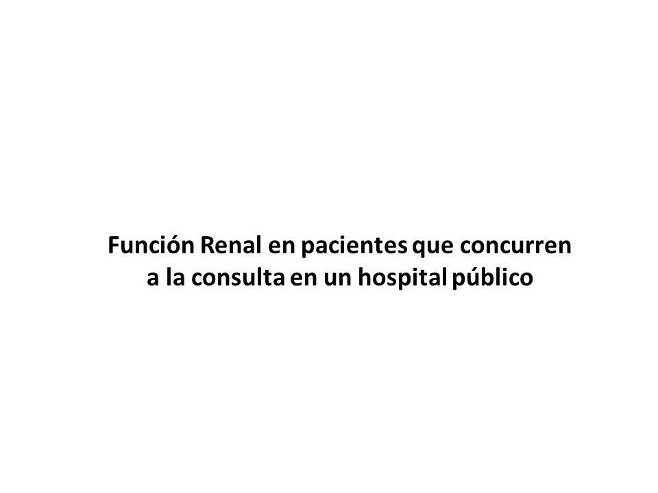 Función Renal en pacientes que concurren a la consulta en un hospital público