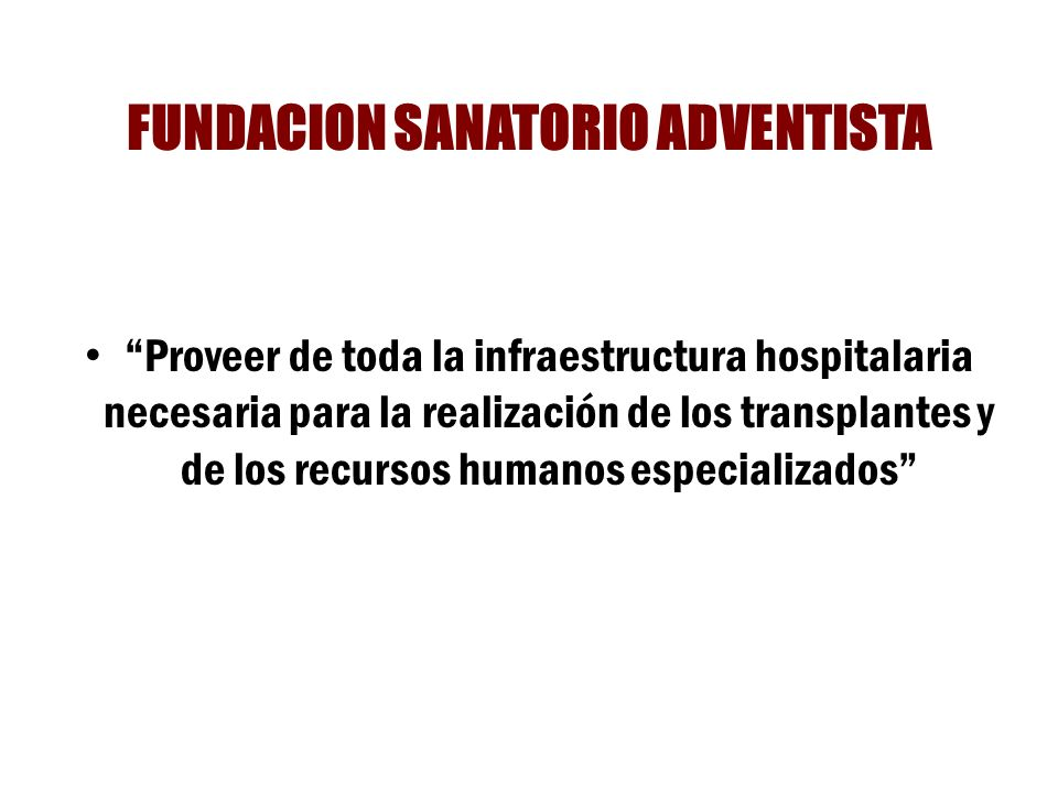FUNDACION SANATORIO ADVENTISTA