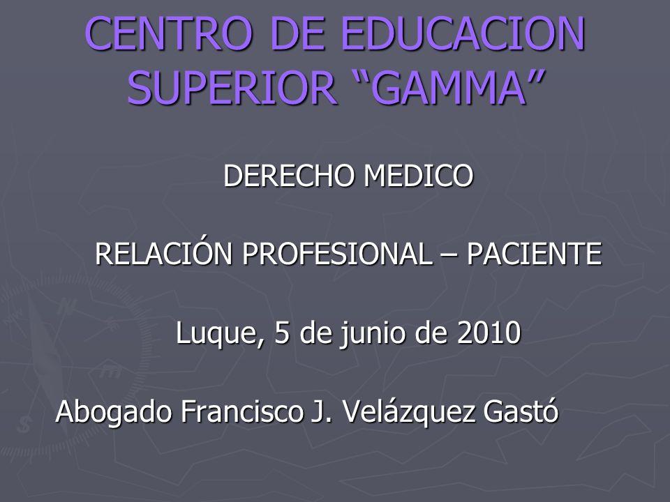 CENTRO DE EDUCACION SUPERIOR GAMMA