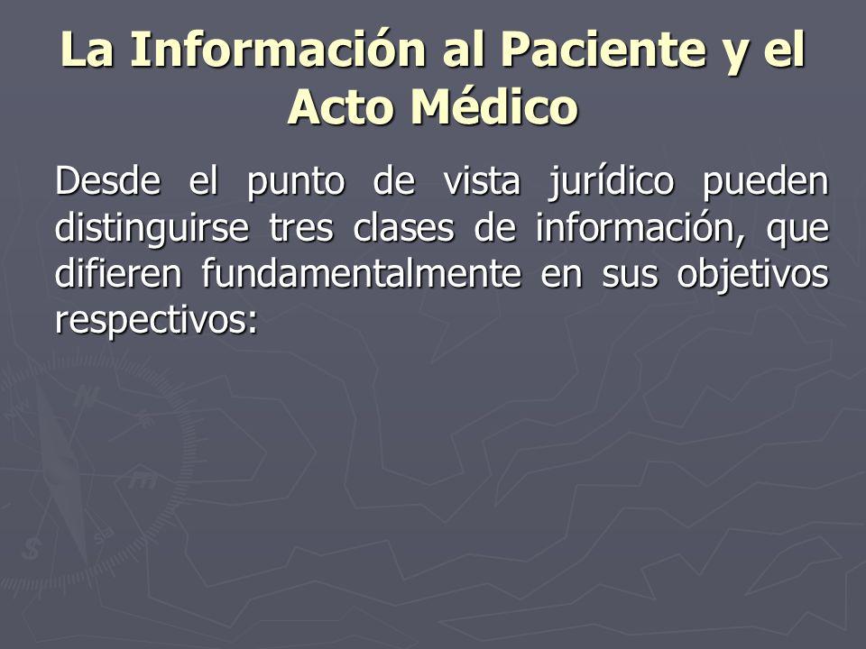 La Información al Paciente y el Acto Médico