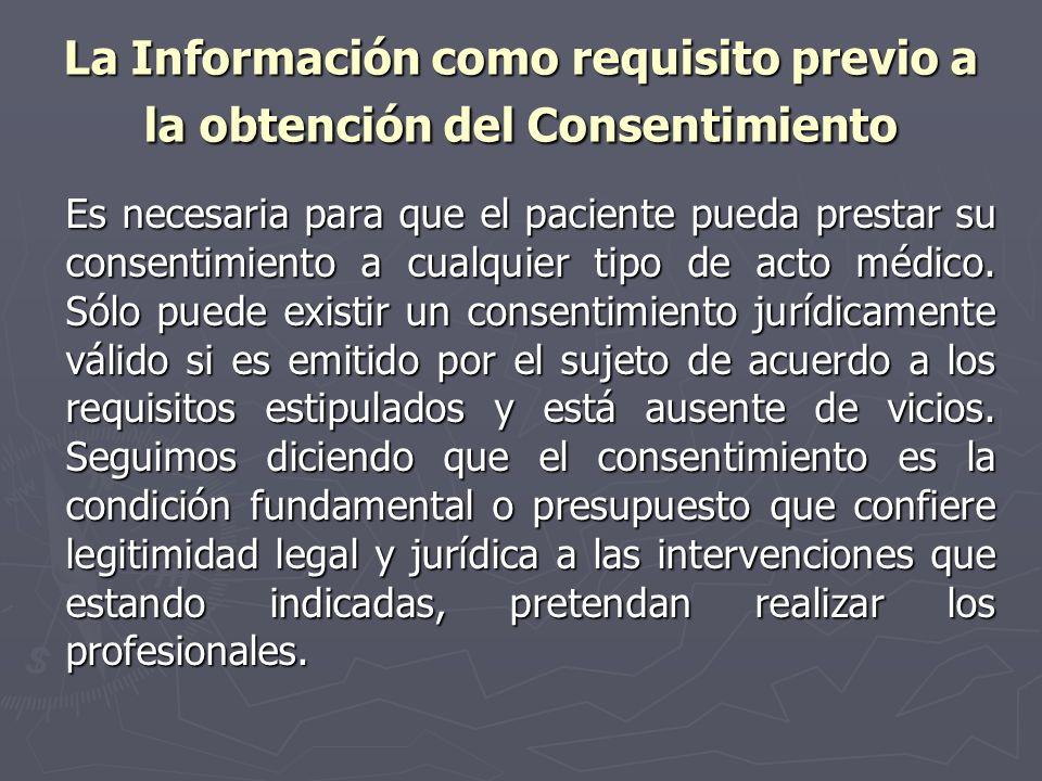 La Información como requisito previo a la obtención del Consentimiento