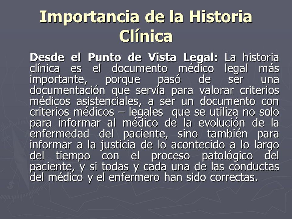 Importancia de la Historia Clínica