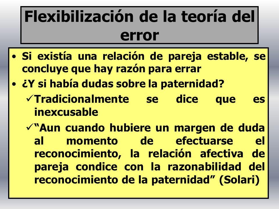 Flexibilización de la teoría del error