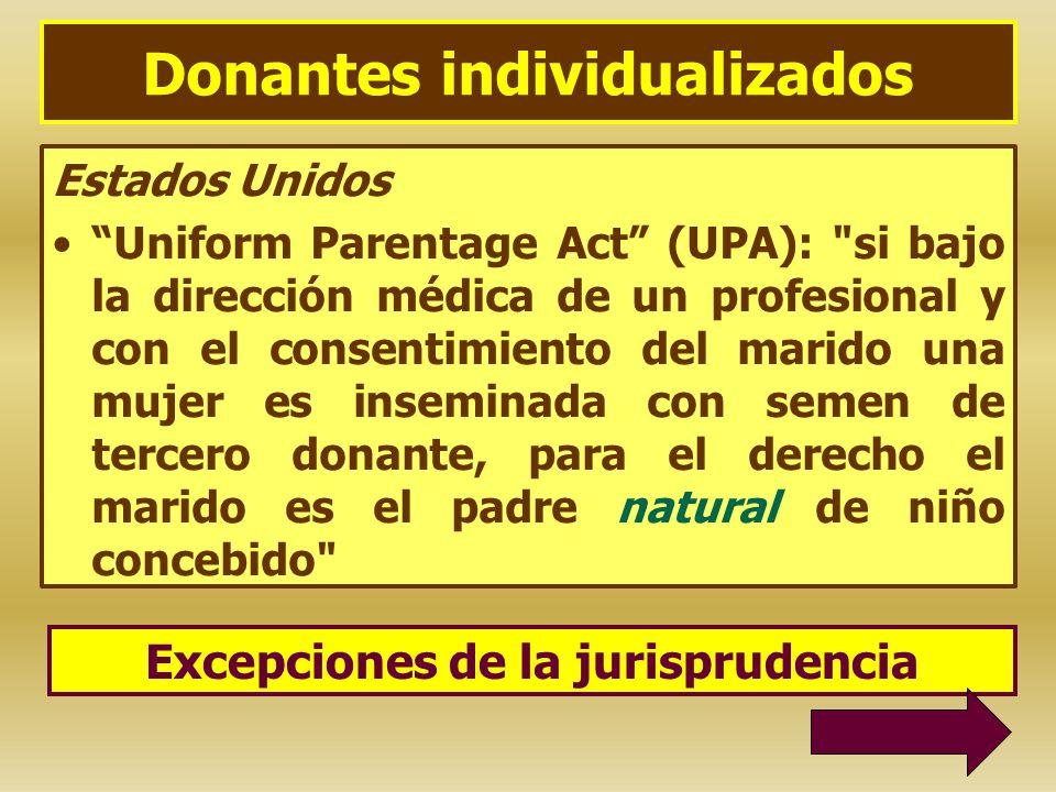 Donantes individualizados