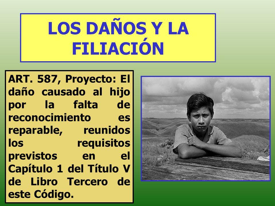LOS DAÑOS Y LA FILIACIÓN