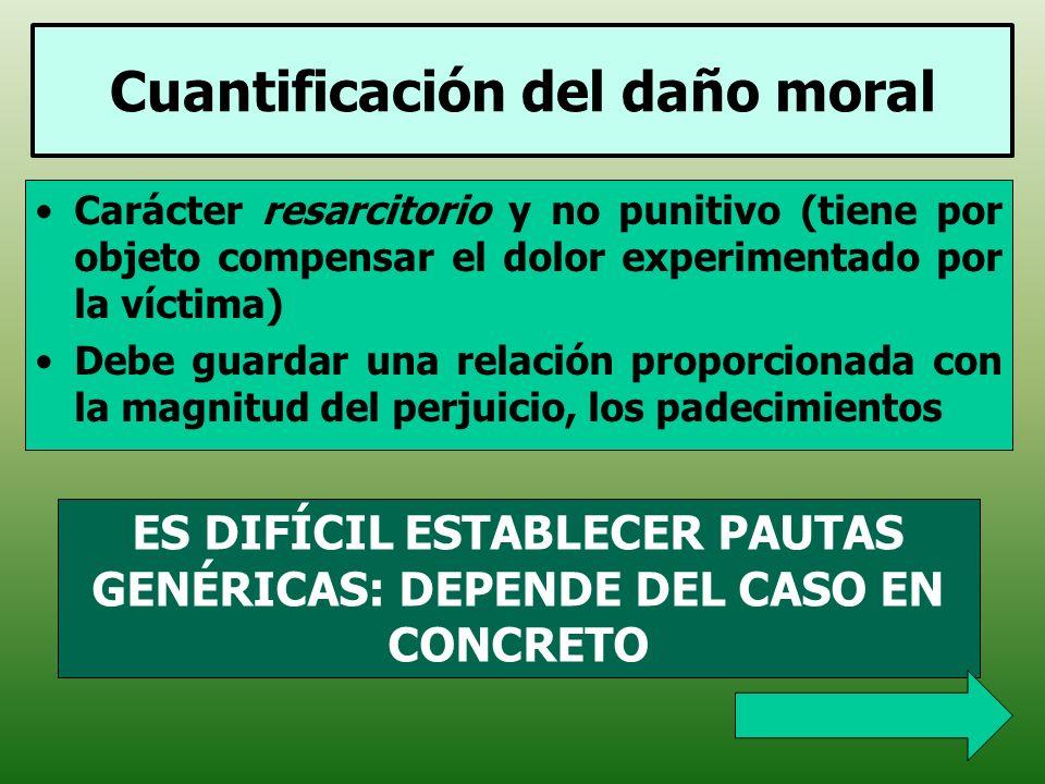 Cuantificación del daño moral