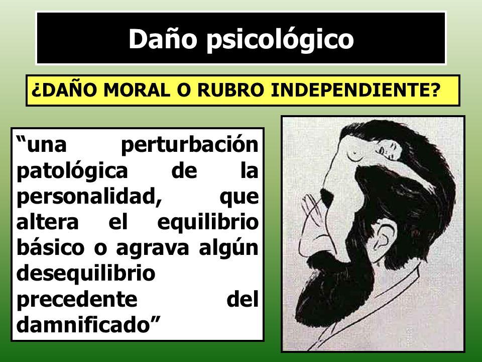 Daño psicológico ¿DAÑO MORAL O RUBRO INDEPENDIENTE