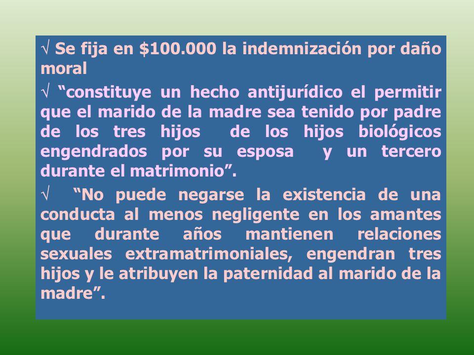  Se fija en $100.000 la indemnización por daño moral
