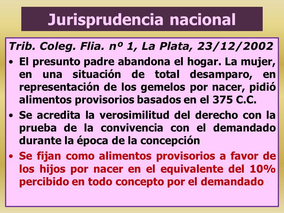 Jurisprudencia nacional