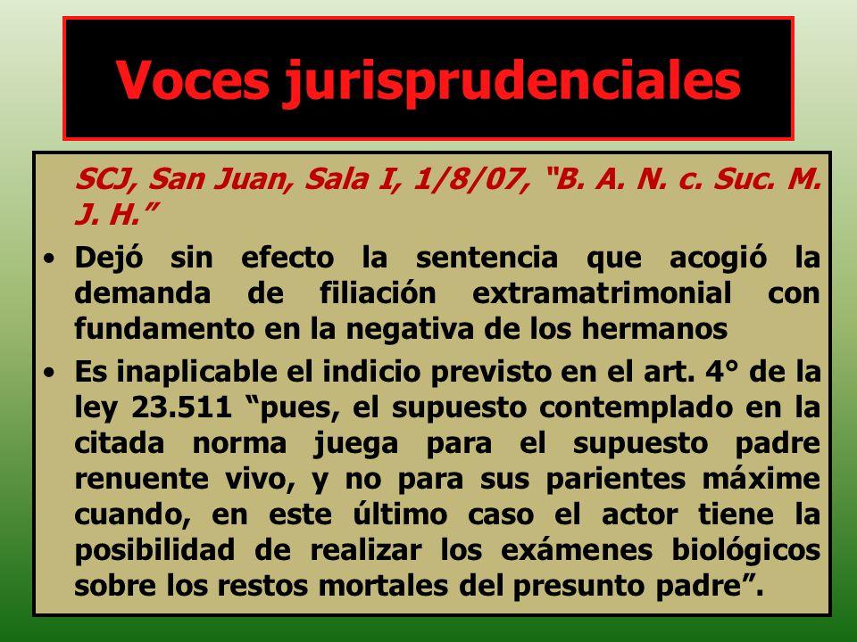 Voces jurisprudenciales