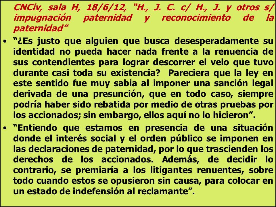 CNCiv, sala H, 18/6/12, H. , J. C. c/ H. , J