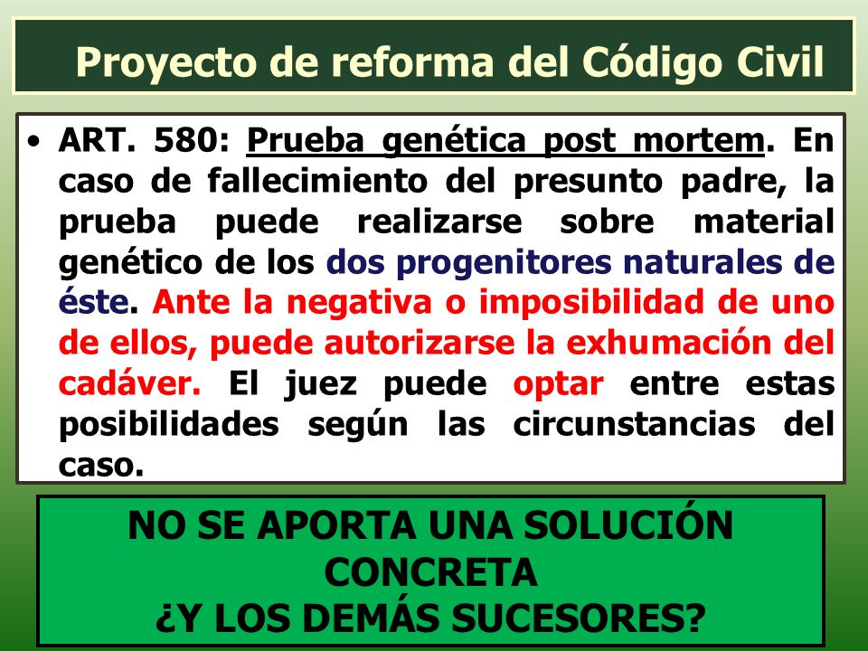 Proyecto de reforma del Código Civil