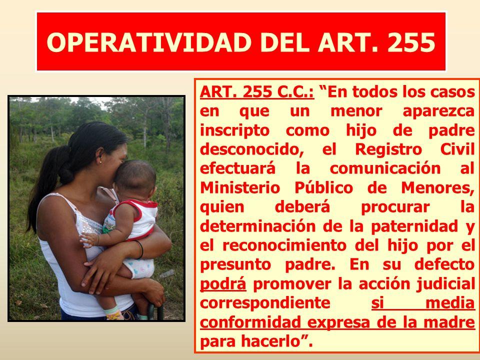 OPERATIVIDAD DEL ART. 255
