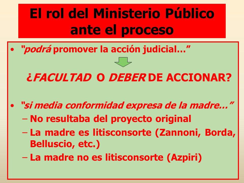 El rol del Ministerio Público ante el proceso