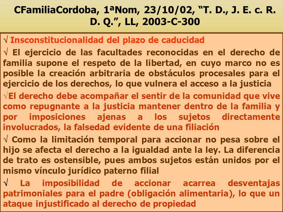 CFamiliaCordoba, 1ªNom, 23/10/02, T. D. , J. E. c. R. D. Q