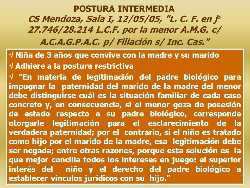 POSTURA INTERMEDIA CS Mendoza, Sala I, 12/05/05, L. C. F. en j° 27