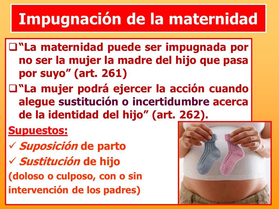 Impugnación de la maternidad