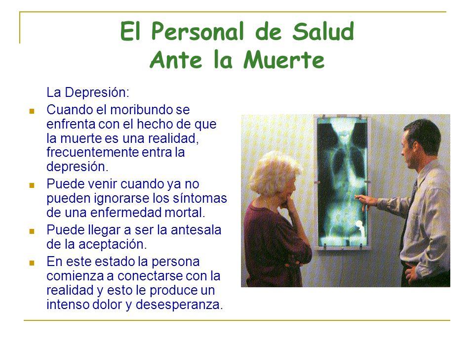 El Personal de Salud Ante la Muerte